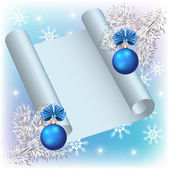 Christmas background with parchment — Stockvector