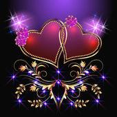 Decorative hearts and stars — Stock Vector