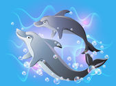Dolphins — Stock Vector
