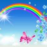 Rainbow in the sky — Stock Vector #8718699