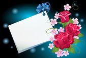 Tle kwiatów z papieru — Wektor stockowy