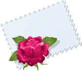 Lace napkin and rose — Stock vektor