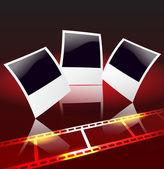 Foto-rahmen und filmstreifen — Stockvektor