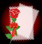Krajky ubrousek a růže — Stock vektor