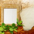 Royalty-Free Stock Photo: Photo frame with paper for letter