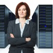 Worker in datacenter — Stock Photo #10678936