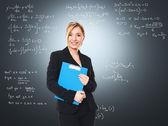 Smiling woman teacher — Stock Photo