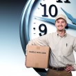 Stock Photo: Delivery on time