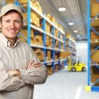 Worker in warehouse — Foto de Stock