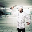 Angry chef — Stock Photo