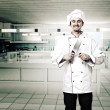 Chef in kitchen — Stock Photo #9017480