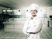 Smiling chef — Stock Photo