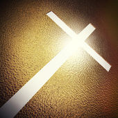 Golden cross — Stock Photo