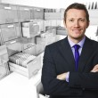 File cabinet 3d an man — Stock Photo #9173961