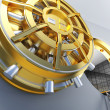Stock Photo: Bank vault