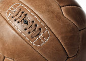 Fotbalový míč closeup — Stock fotografie