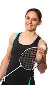 Badminton oyuncu portre — Stok fotoğraf