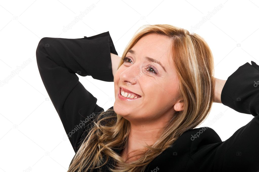 Portrait of young smiling woman — Stock Photo #9870975