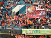 Cheering Baseball Fans in Taiwan — Stock Photo