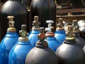 Oxygen and Gas Cylinders — Stock Photo