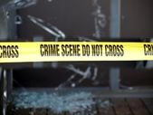 Crime Scene Marked with Yellow Tape — Stock Photo