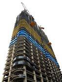 Modern highrise şantiye vinç ile — Stok fotoğraf