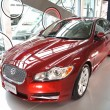 New Jaguar Luxury Car on Display - Stock Photo