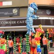 Chinese Lion Dancers in southern Taiwan — Stockfoto #8018638