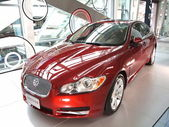 New Jaguar Luxury Car on Display — Stock Photo