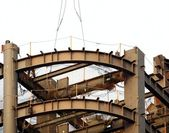 High Rise Construction Girders — Stock Photo