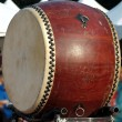 Large Chinese Wooden Drum — Stock Photo