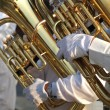 Two Tuba Players — Stock Photo