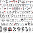 Tattoo Catalog of Designs - Stock Photo