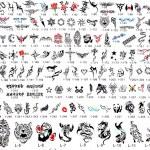 Tattoo Catalog of Designs — Stock Photo