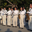 Marching Band in Taiwan Plays in a Park — Stock Photo