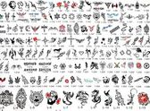 Tattoo Catalog of Designs — Stock Photo