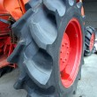 Large Tractor Tire - Stock Photo