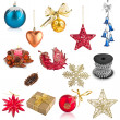 Foto de Stock  : Set of Christmas decorations