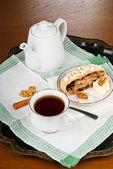 茶苹果卷 — 图库照片