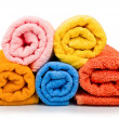 Multicolour towels rolls — Stock Photo