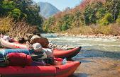 Kayak on waters edge — Stock Photo