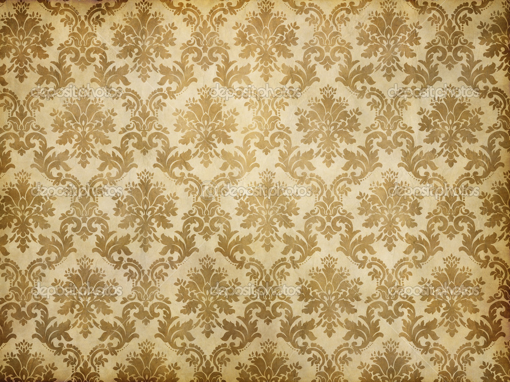 Vintage damask wallpaper stock photo clearviewstock 9120487 - Papier peint vintage 50 ...