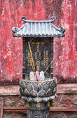 Small buddhist shrine in vietnam — Stock Photo