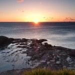 Ocean sunrise at wollongong — Stock Photo