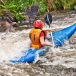 white water kayaking — Stock Photo #9391501