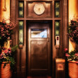 Stock Photo: Old elevator door