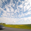 Stock Photo: Road and clouds.