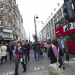 Stockfoto: LONDON - OCTOBER 17. Evening in Oxford street.