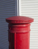 English red post box. — Stock Photo
