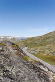 Sognefjell`s mountain road. — Stock Photo